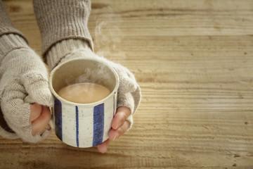 温かい飲み物  カフェオレ