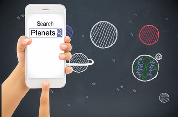searching information about planets