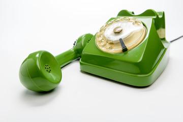 Telefono vintage, fuoco selettivo