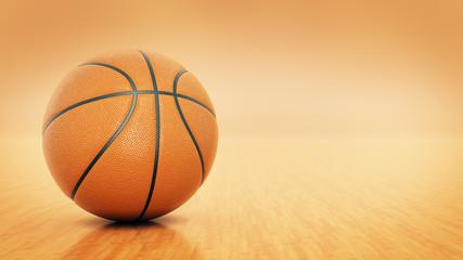 Orange basket ball. 3d rendering
