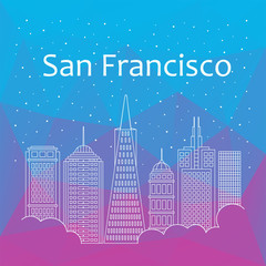 San Francisco for banner, poster, illustration, game