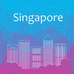 Singapore for banner, poster, illustration, game, background.