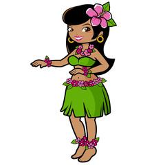 Hawaiian hula girl dancer