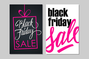Black Friday Sale flyers for business, promotion and advertising. Vector illustration.