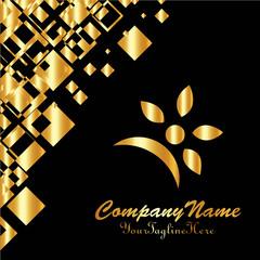 sun flower design logo