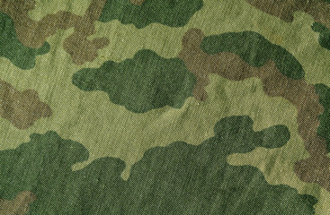 Camouflage cloth texture.