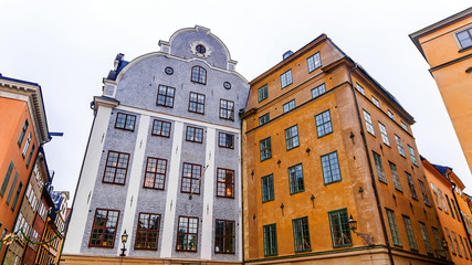 facades of old buildings in Stockholm