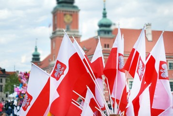 Polish national flags