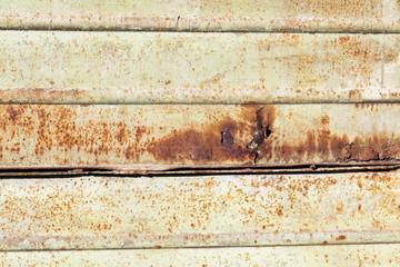 rusty metal closeup