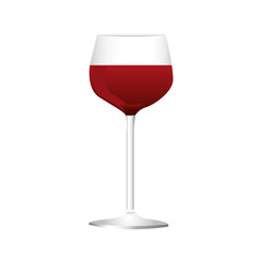 red wine glass icon image vector illustration design