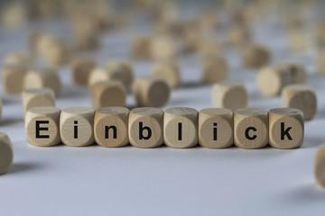 Einblick - Holzwürfel mit Buchstaben