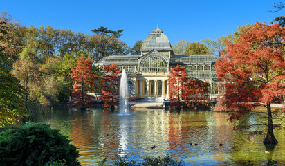 crystal palece of El Retiro park,Madrid