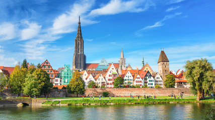 City of Ulm at a sunny day