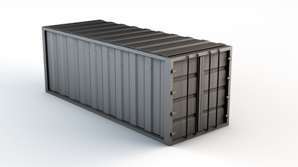 einzelner Container für LKW oder Schiff - Konzept Logistik