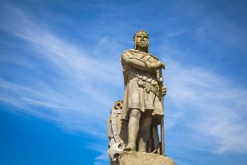 Robert the Bruce, König der Schotten; Stein-Statue vor dem Schloss Stirling. Schottland