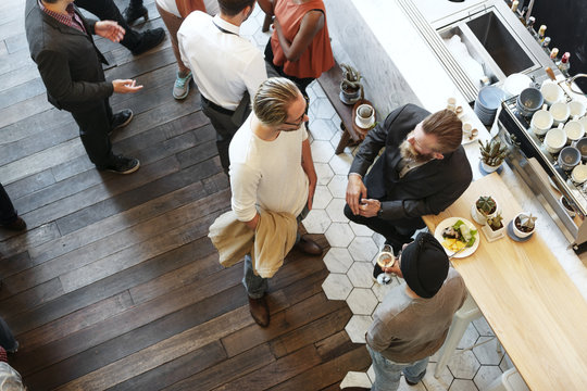 People Meeting Talking Restaurant Lifestyle Concept