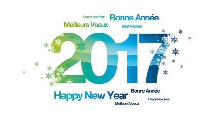 Bonne année 2017 greenyblue