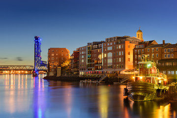Canvas Prints City on the water Portsmouth, New Hampshire