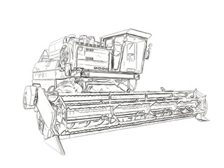 Outlines of the agricultural harvester