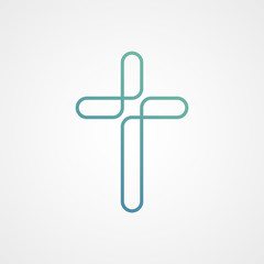 church technology with cross logo icon