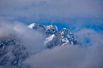 Blick zum Gipfel der Zugspitze