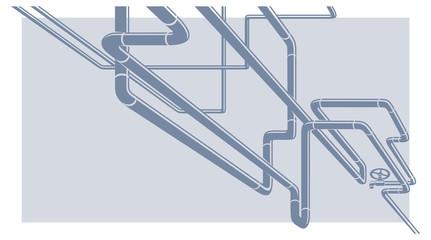 Industrial Vector pipeline construction