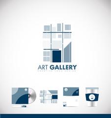 Art gallery abstract logo icon design