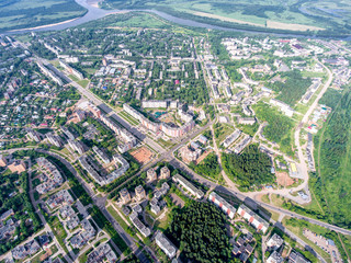 top view on the panorama of city - Kirovo-Chepetsk Russia