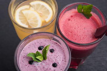 lemon and currant smoothie