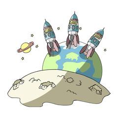 Vluchten naar een andere planeet