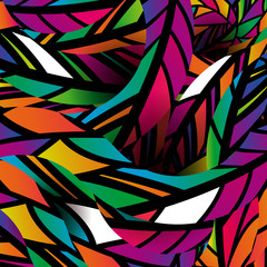 Tropical style. Abstract background with colorful mosaic design