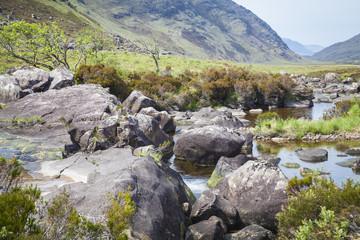 Flusslandschaft nahe Loch Torridon, Wester Ross, Schottland
