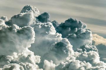 Fototapeta Cloudscape seen from the airplane window