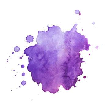 Abstract vector watercolor background.