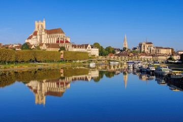 Auxerre - Auxerre, cathedral and Yonne river