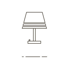 Vector illustration of thin line lamp icon on white background