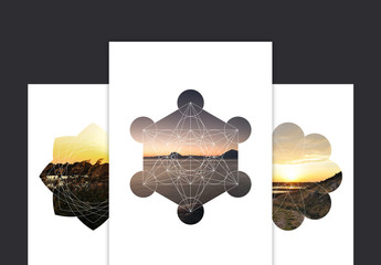 Geometric Photo Mask Set 2