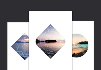Geometric Photo Mask Set 3