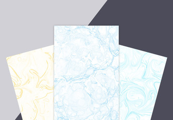 Four Flat Marble Paper Textures