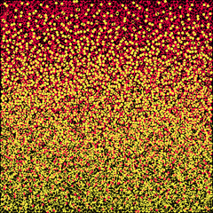 Stipplism-mosaic-black-yellow-red