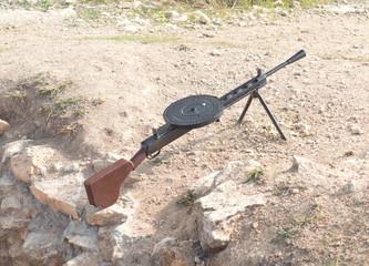 Model  of Soviet light machine gun