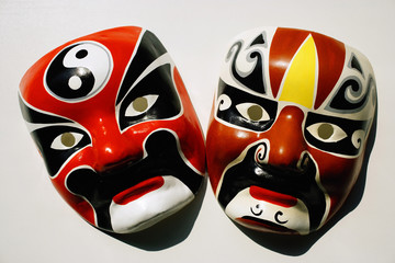 Two Chinese masks
