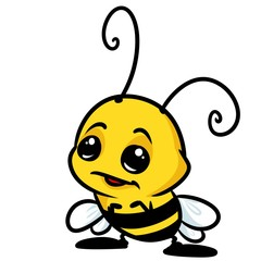 Insect little bee cartoon illustration isolated image character