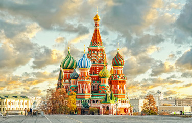 Acrylic Prints Historical buildings Moscow,Russia,Red square,view of St. Basil's Cathedral