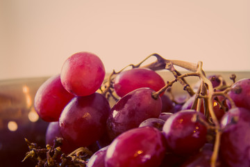 Red Grapes in a Colander