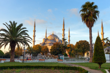 Sultan Ahmed Mosque (Blue Mosque), Istanbul, Turkey.