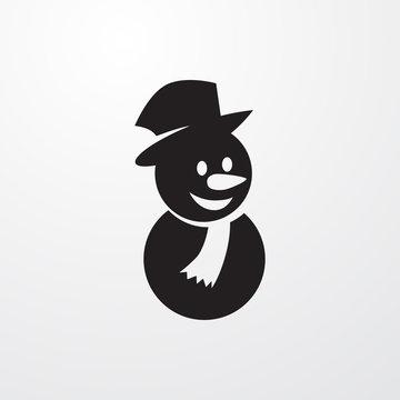 snowman icon illustration
