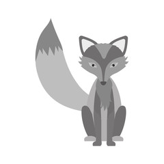 silhouette of Fox icon. Animal cartoon and nature theme. Isolated and drawn design. Vector illustration