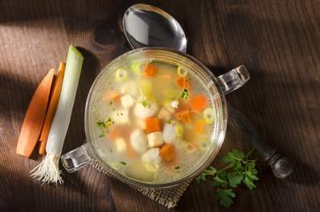 Hühner Bouillon Brühe Hühnerbrühe Suppe Hühner-Bouillon Pet