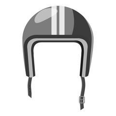 Protective helmet icon. Gray monochrome illustration of helmet vector icon for web design